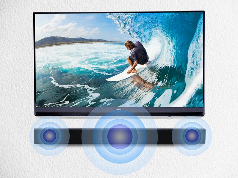 Loa Soundbar 2.2 Samsung HW-J250/XV - Âm thanh mạnh mẽ