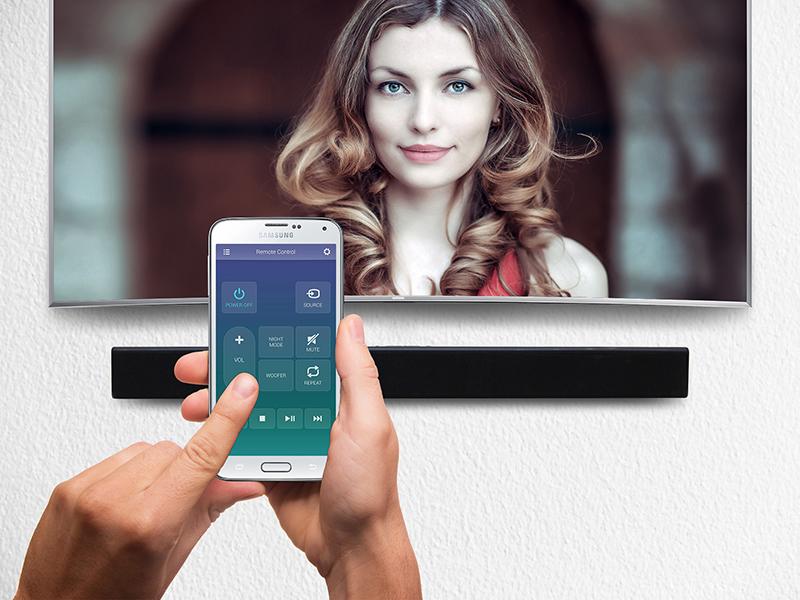 Loa Soundbar 2.2 Samsung HW-J250/XV - Điều khiển loa bằng điện thoại
