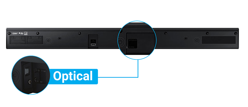 Loa Soundbar 2.2 Samsung HW-J250/XV - Kết nối loa với tv qua cổng Optical