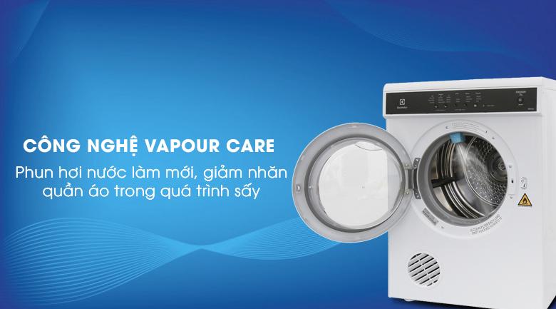 Công nghệ Vapour Care - Máy sấy Electrolux 7.5 kg EDS7552