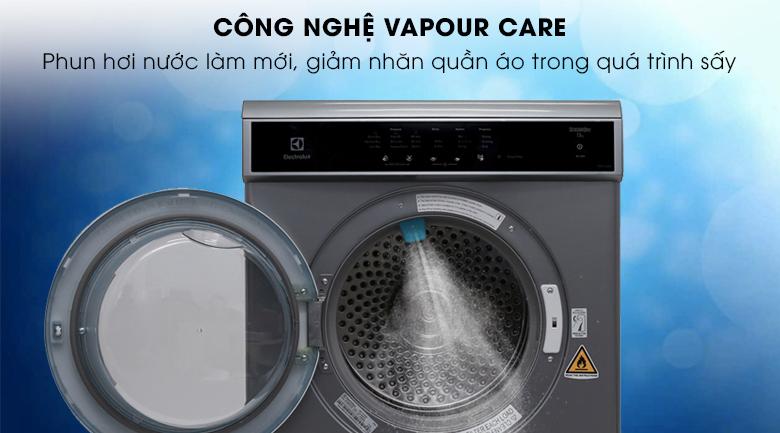 Công nghệ Vapour Care - Máy sấy Electrolux 7.5 kg EDS7552S