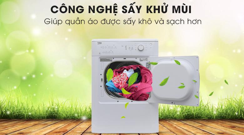 Công nghệ sấy khử mùi - Máy sấy Beko 7 kg DV7110