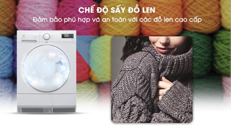 Chế độ sấy an toàn cho đồ len - Máy sấy Electrolux 8 kg EDC2086PDW