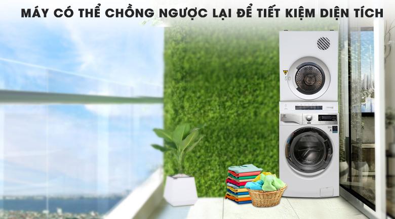 Máy sấy quần áo chồng ngược lên máy giặt - Máy sấy Electrolux 6.5 kg EDV6552