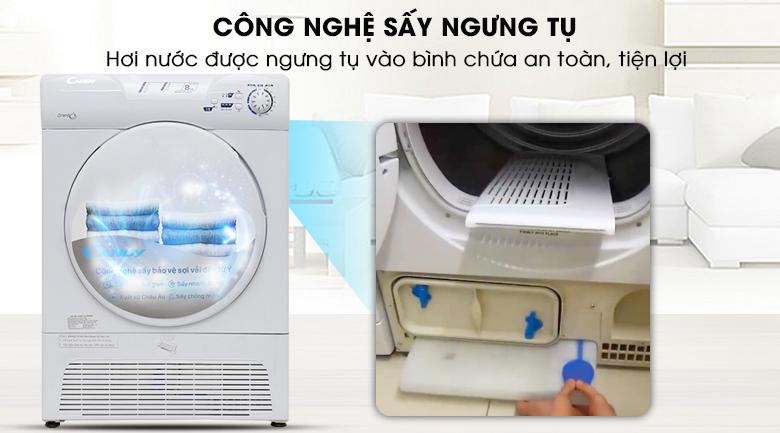 Công nghệ sấy ngưng tụ - Máy sấy Candy 8 kg GCC 580NB-S