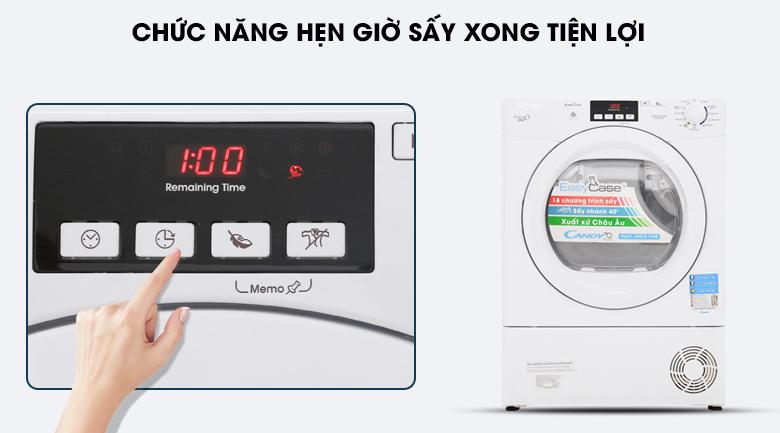 Chương trình hẹn giờ - Thiết kế máy sấy Candy 8 kg GVC D813B-S