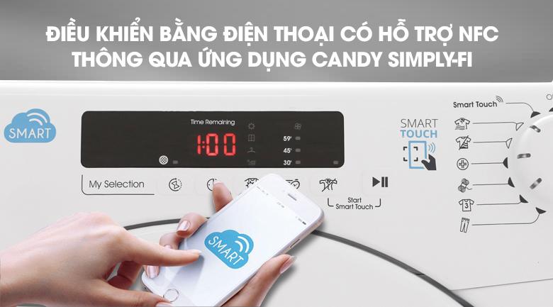 Điều khiển bằng Smartphone - Máy sấy Candy 9 Kg CS V9DF-S