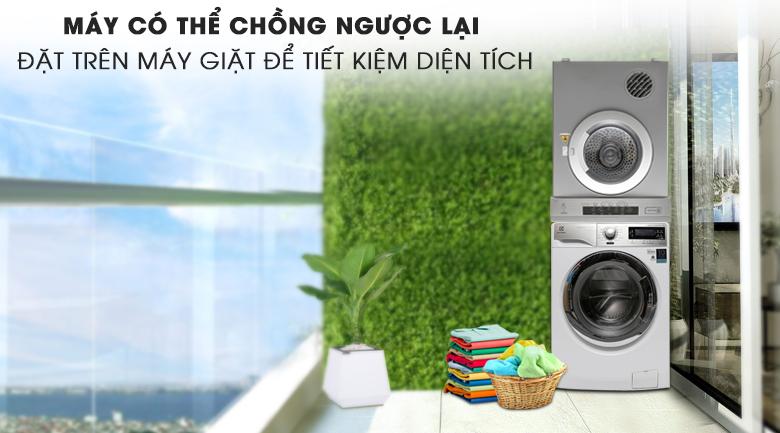 Dễ dàng chồng lên trên máy giặt Electrolux - Máy sấy Electrolux 8 kg EDV8052S