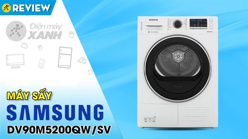 Máy sấy bơm nhiệt Samsung Inverter 9 Kg DV90M5200QW/SV