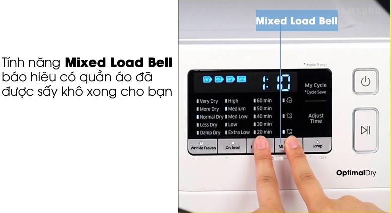 Tính năng Mixed Load Bell - Máy sấy Samsung 9 kg DV90M5200QW/SV