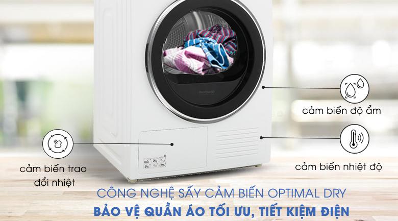 Công Nghệ Sấy Cảm biến Optimal Dry - Máy sấy Samsung 9 kg DV90M5200QW/SV
