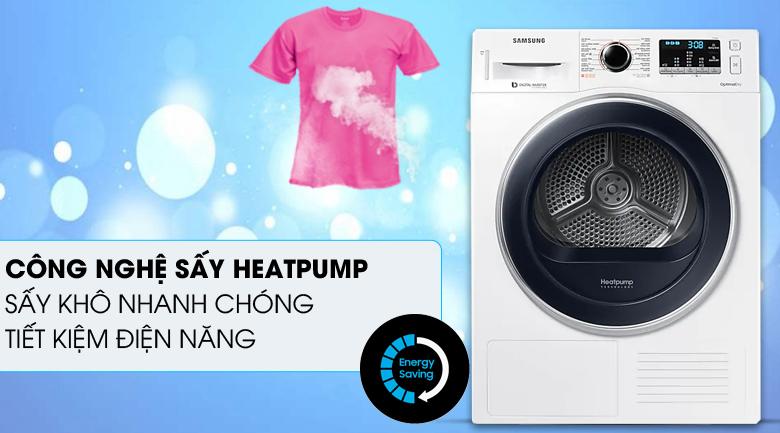 Công nghệ Heatpump - Máy sấy Samsung 9 kg DV90M5200QW/SV