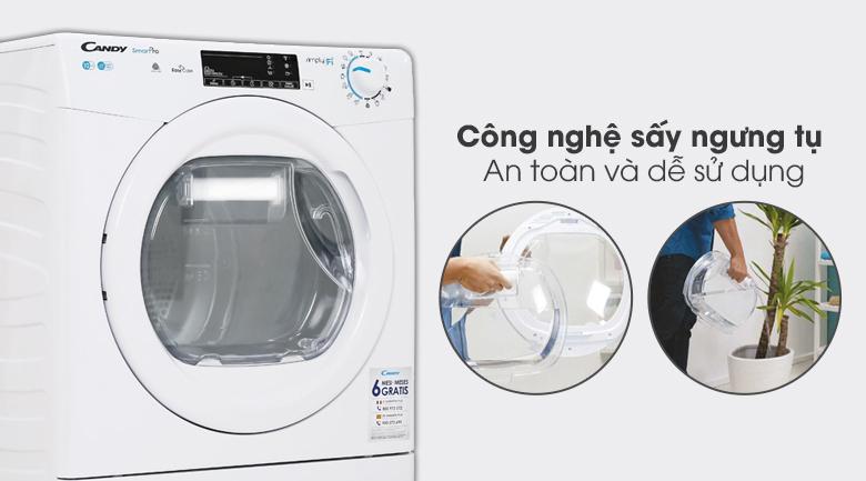 Máy sấy Candy CSO C10TE-S công nghệ sấy ngưng tụ an toàn cho gia đình
