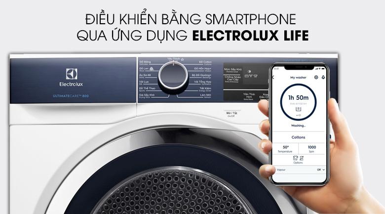 Điều khiển máy sấy từ xa với ứng dụng Electrolux Life