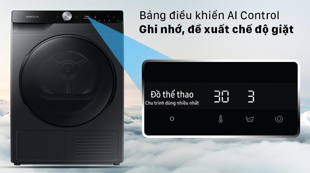 Máy sấy Samsung Inverter 9 kg DV90T7240BB/SV - Bảng điều khiển AI thông minh ghi nhớ, phân tích, đề xuất chế độ giặt theo thói quen sử dụng hàng ngày