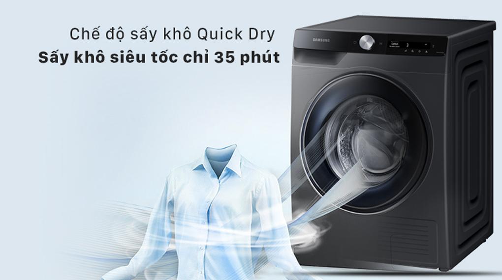 Máy sấy Samsung Inverter 9 kg DV90T7240BB/SV - Sấy nhanh siêu tốc với QuickDry