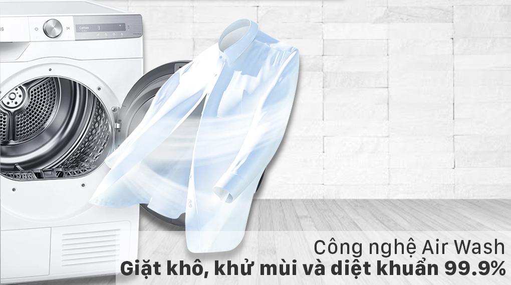 Máy sấy bơm nhiệt Samsung 9kg DV90T7240BH/SV - Air Wash