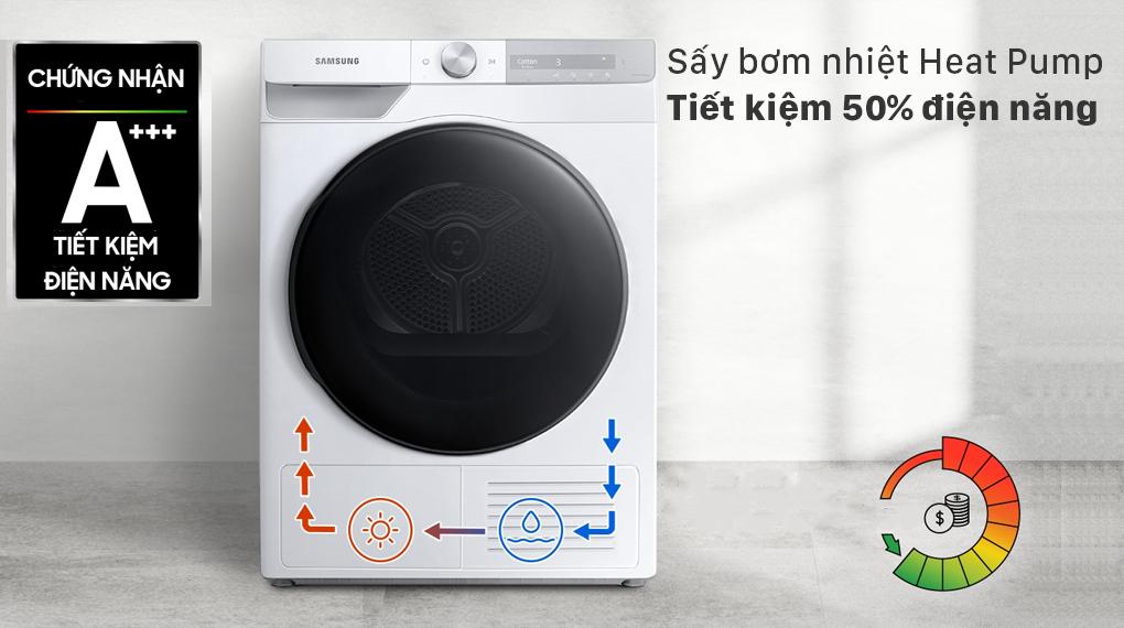 Máy sấy bơm nhiệt Samsung 9kg DV90T7240BH/SV - Heat Pump