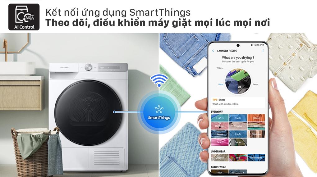Máy sấy bơm nhiệt Samsung 9kg DV90T7240BH/SV - SmartThings