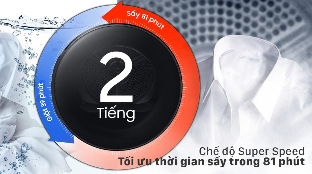 Máy sấy bơm nhiệt Samsung 9kg DV90T7240BH/SV - Super Speed