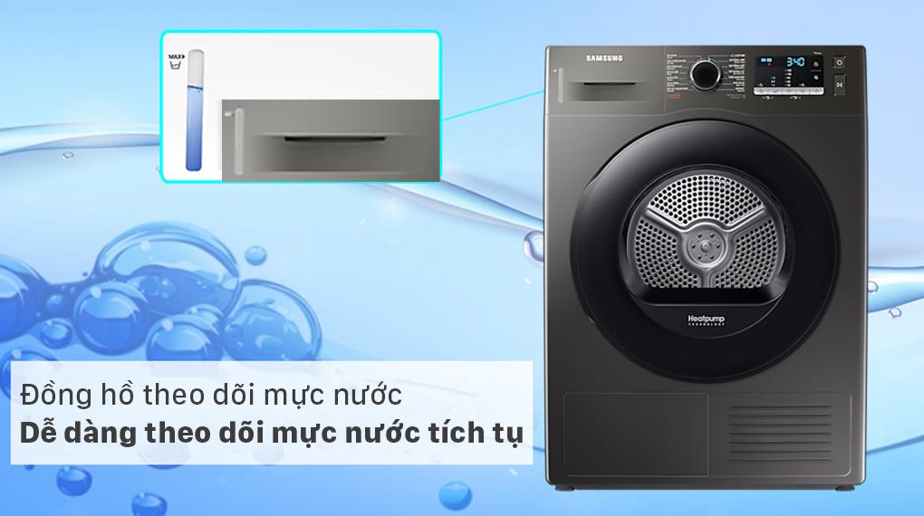 Máy sấy bơm nhiệt Samsung 9kg DV90TA240AX/SV - Đồng hồ mực nước