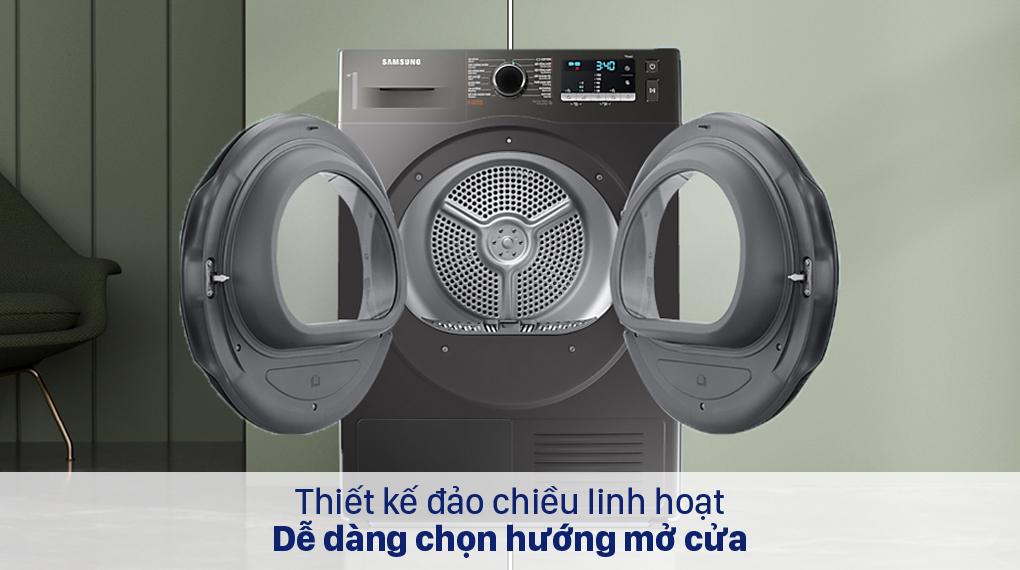 Máy sấy bơm nhiệt Samsung 9 kg DC90TA240AX/SV - Cửa đảo chiều