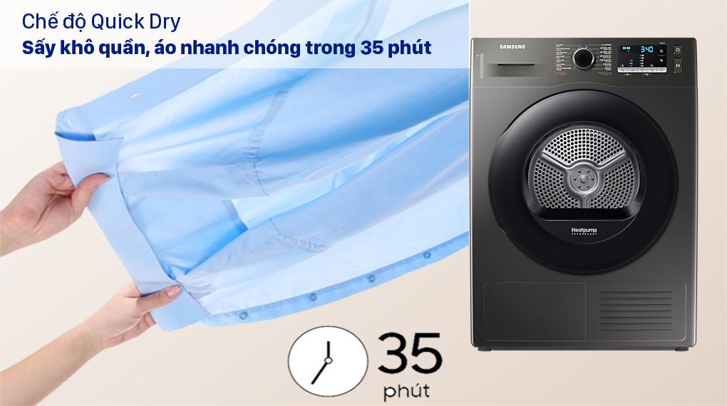 Máy sấy bơm nhiệt Samsung 9kg DV90TA240AX/SV - Chế độ Quick Dry