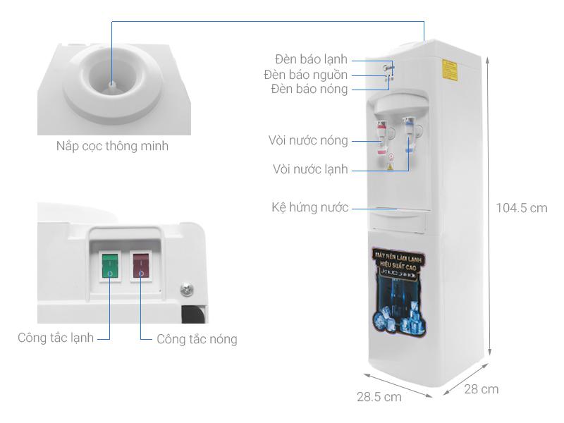 Thông số kỹ thuật Cây nước nóng lạnh Midea MYL 1031S