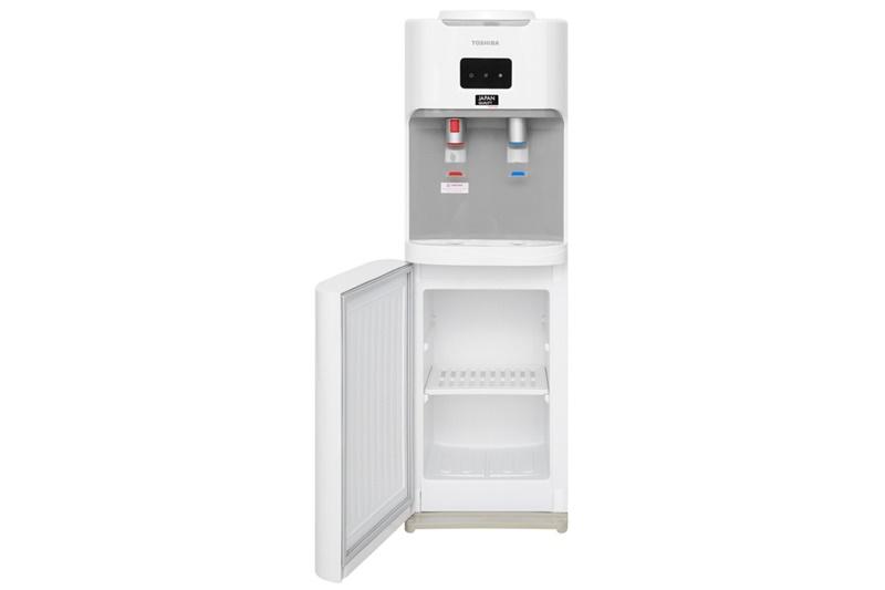 Thân dưới cây nước nóng lạnh có thiết kế khoang chứa ly tách - Cây nước nóng lạnh Toshiba RWF-W1664TV(W1)