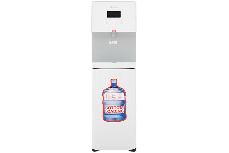 Màu trắng trang nhã, vỏ bằng chất liệu tốt - Máy nước nóng lạnh Toshiba RWF-W1830BV(W)