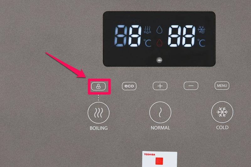 Thiết kế khóa vòi nước nóng - Máy nước nóng lạnh Toshiba RWF-W1830UVBV(T)