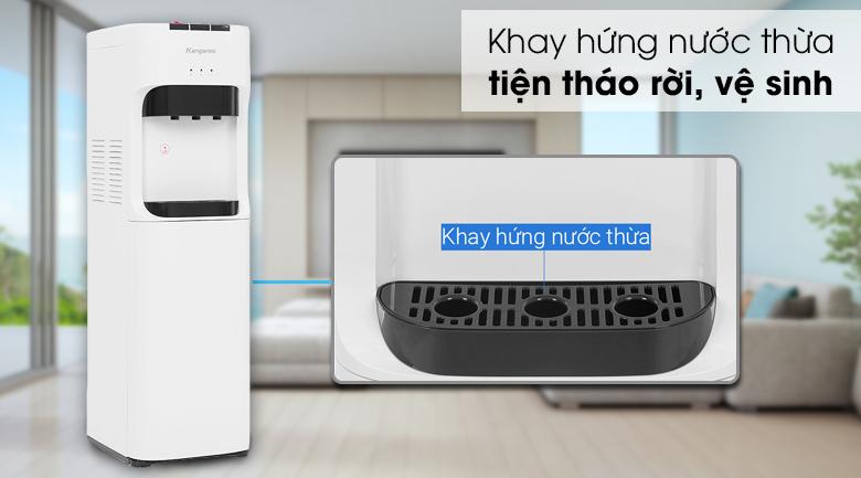 Cây nước nóng lạnh Kangaroo KG50A3 - Có khay hứng nước có thể tháo rời giúp bạn tiện vệ sinh