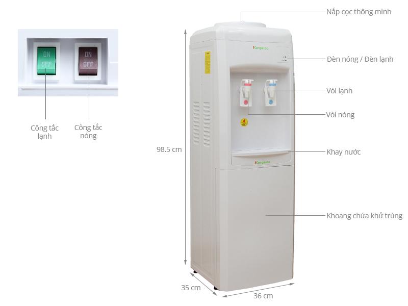 Thông số kỹ thuật Cây nước nóng lạnh Kangaroo KG34C