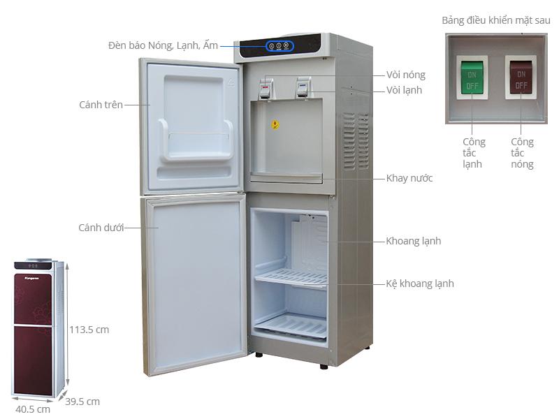 Thông số kỹ thuật Cây nước nóng lạnh Kangaroo KG40N
