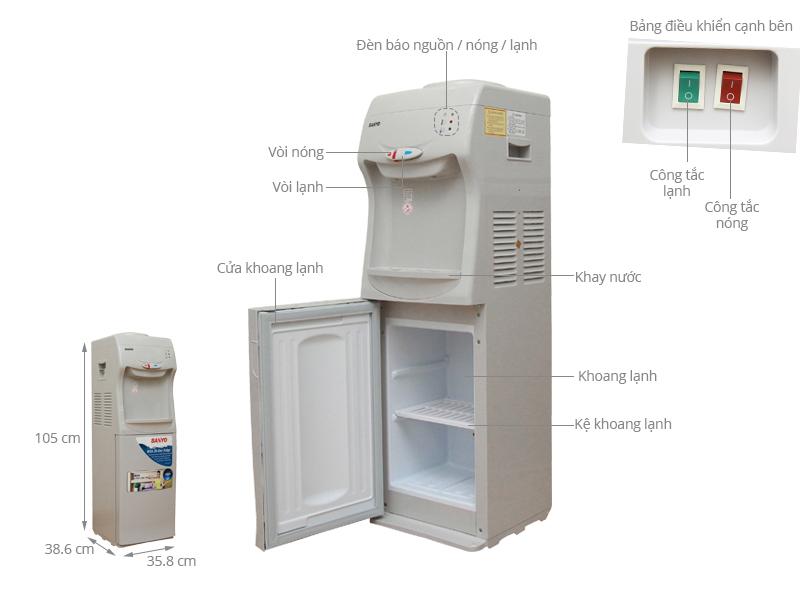 Thông số kỹ thuật Cây nước nóng lạnh Sanyo SWD-M30HCR