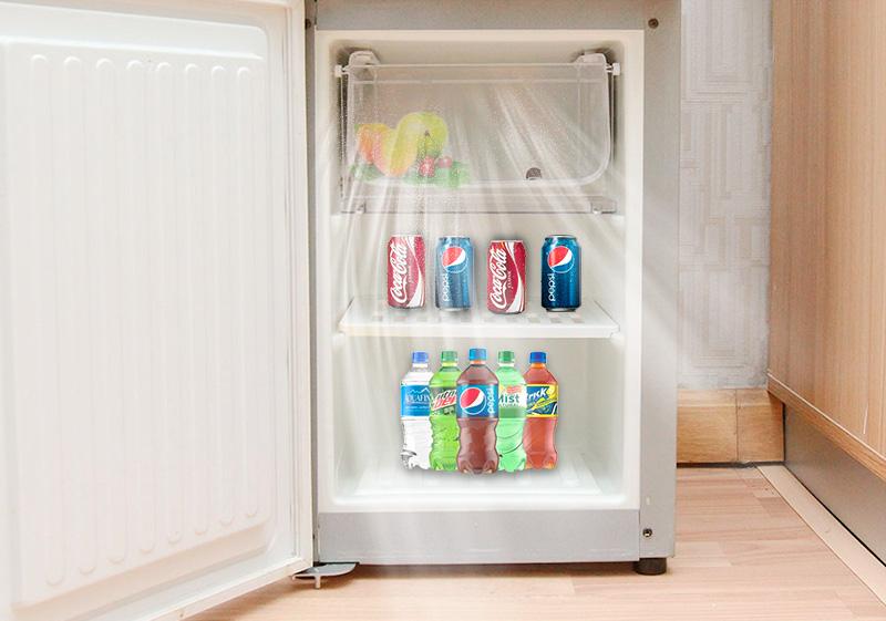 Khoang lạnh bảo quản nước và trái cây