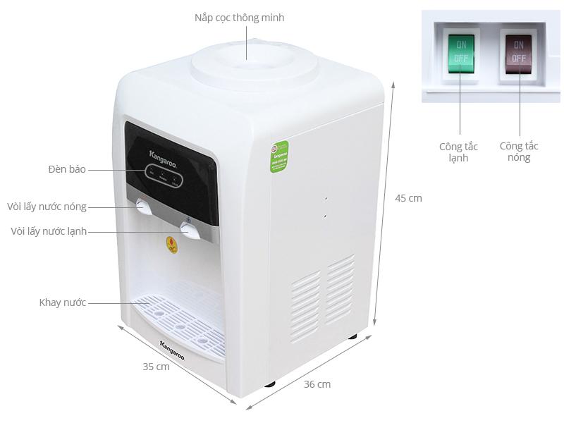 Thông số kỹ thuật Cây nước nóng lạnh Kangaroo KG33TN