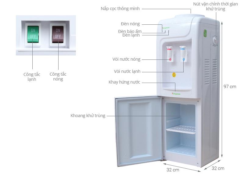 Thông số kỹ thuật Cây nước nóng lạnh Kangaroo KG3331