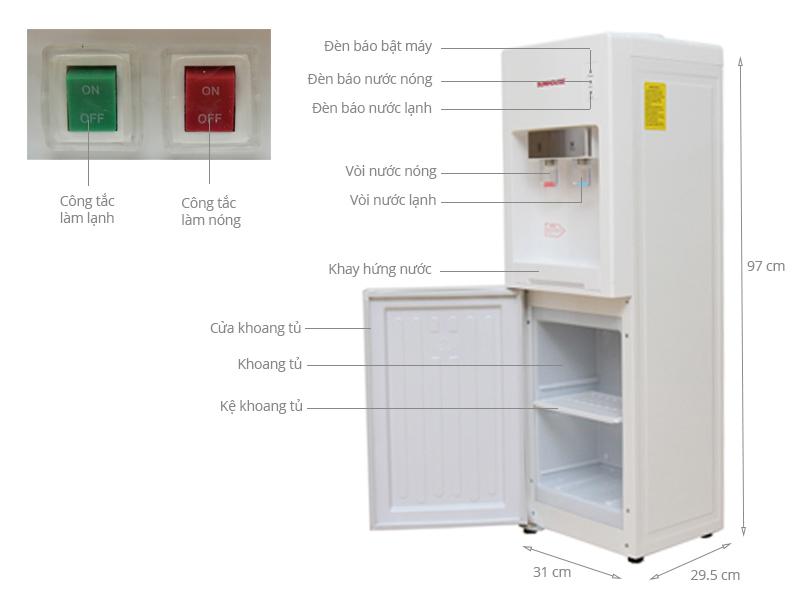 Thông số kỹ thuật Cây nước nóng lạnh Sunhouse SHD 9602