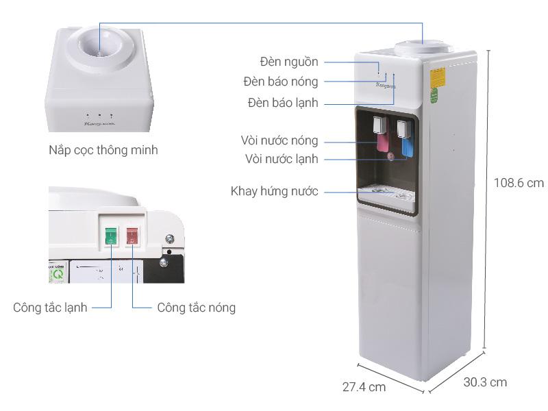 Thông số kỹ thuật Cây nước nóng lạnh Kangaroo KG36A3