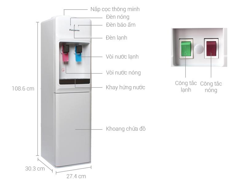 Thông số kỹ thuật Cây nước nóng lạnh Kangaroo KG31A3