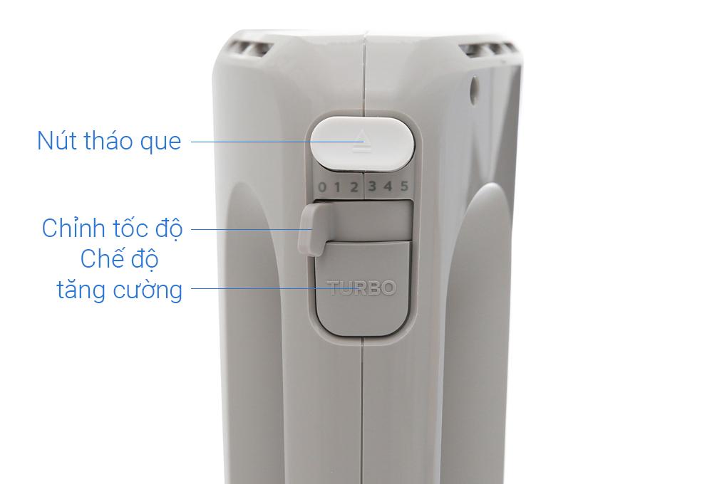 Thiết kế hoàn toàn tự động bằng các nút bấm điện - Máy đánh trứng Philips HR3705/20