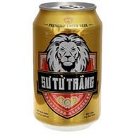 Bia Sư tử trắng Premium Lager lon 330ml