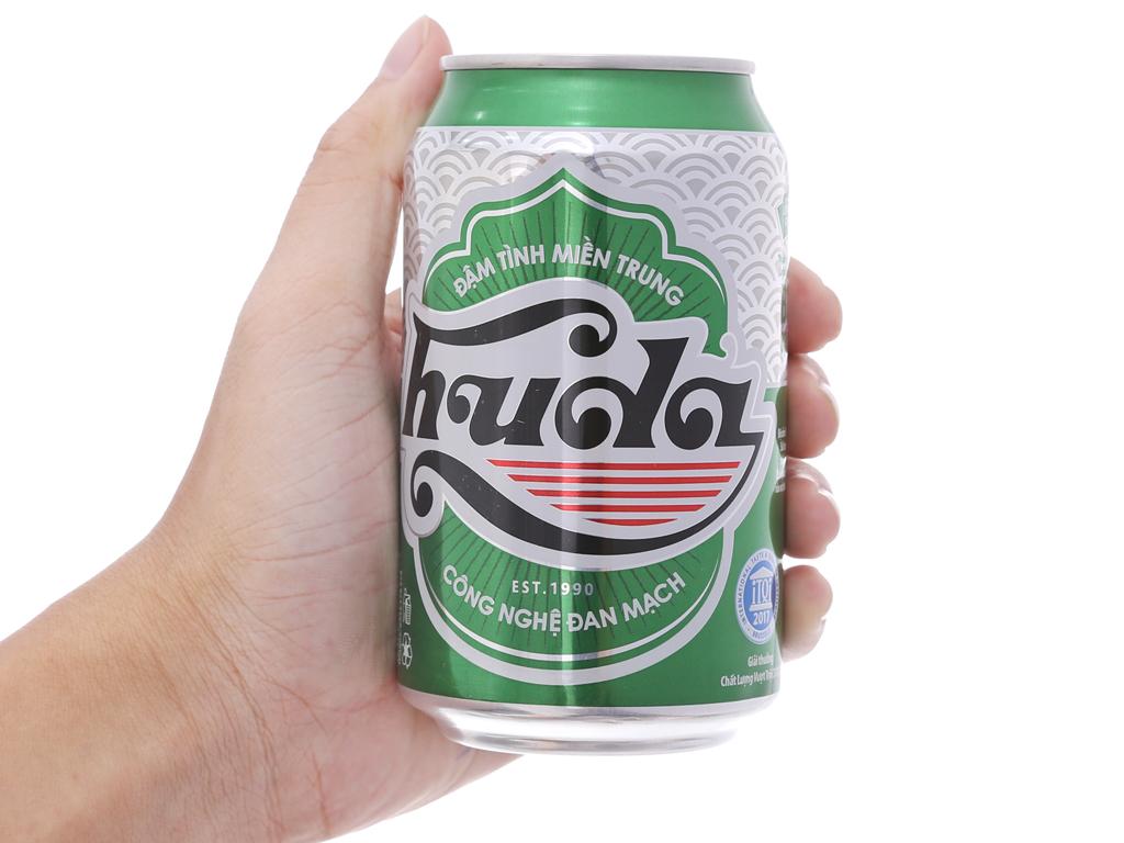 Thùng 24 lon bia Huda 330ml 5