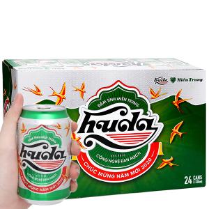 Thùng 24 lon bia Huda 330ml