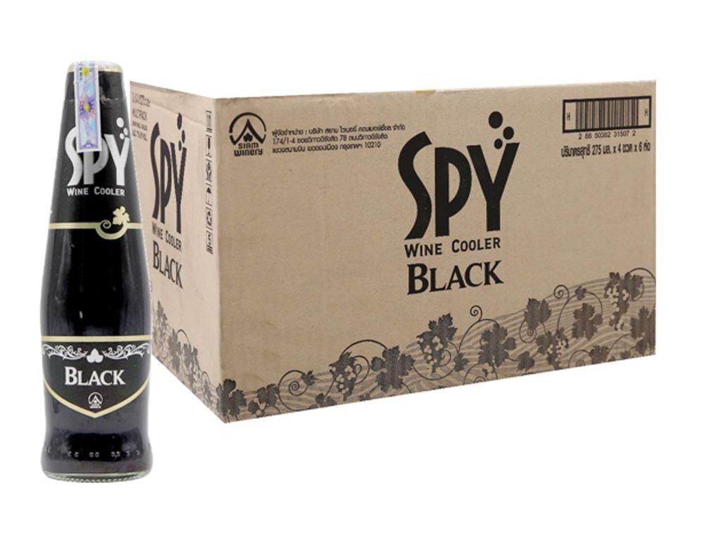 Thùng 24 chai Spy Black 275ml 1
