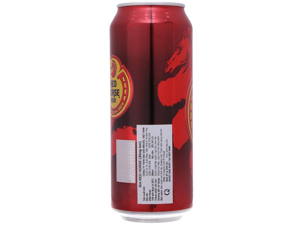Thùng 12 lon bia San Miguel Red Horse 500ml 3