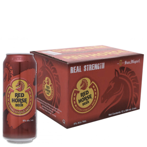 Thùng 12 lon bia San Miguel Red Horse 500ml