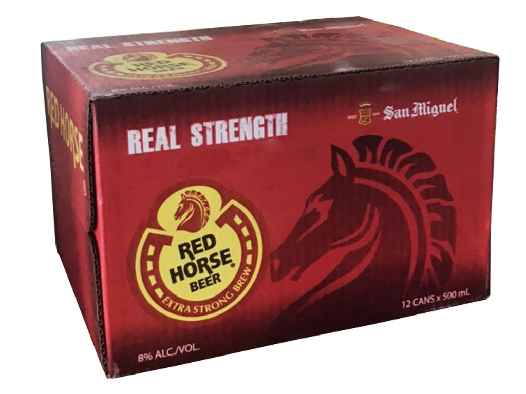 Thùng 12 lon bia San Miguel Red Horse 500ml 1