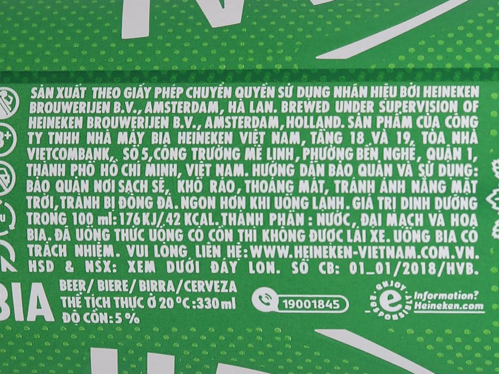 Bia Heineken Sleek 330ml 6